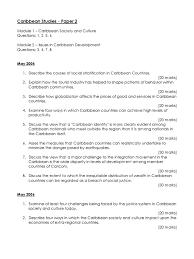 caribbean studies past paper questions caribbean globalization