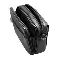 mens handbag black cowhide leather messenger bag