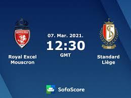 Royal Excel Mouscron Standard Liège Live Ticker und Live Stream - SofaScore