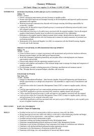 Engineer Supplier Resume Samples Velvet Jobs
