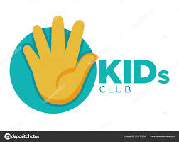 Kids Zone Logo Template Of Child Palm Hands Smiling Face