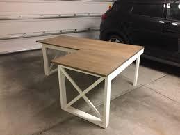 l shaped desk diy. Perfect Desk Plan L Shaped Double X DeskPhoto CreditJason With Desk Diy D