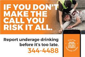 Underage Drinking Alliance Hotline Youth