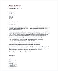 Substitute Teacher Cover Letter In Pdf Photo Gallery In Website