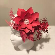 Paper Flower Hats Fascinator Paper Flowers Kentucky Derby Fascinator Headband Fascinator Hair Clip Fascinator Hats