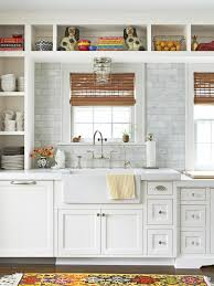 Cottage-Style Kitchen With Open Shelving