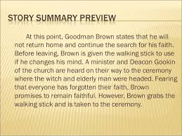 young goodman brown  4 at this point goodman brown