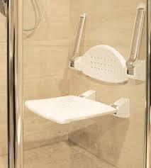 shower seat with armrest back rest folding type
