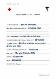 Free Fake Medical Certificate Template Atlantaauctionco Com