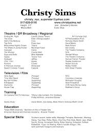 Bistrun Actors Resume Template Musical Theater Resume Template