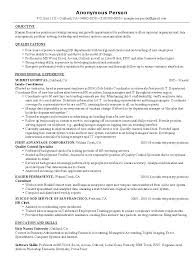 Examples Of Hr Resumes 100 Images Career Objective Examples