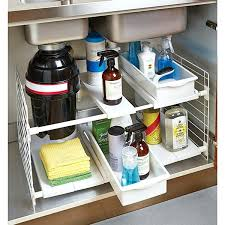 under sink cabinet organizers iris expandable under sink organizer kitchen sink cabinet door organizer