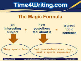 writing a great topic sentence timewriting provides these 3 the magic formula a great topic