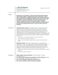 Resumes For Teachers Noxdefense Com