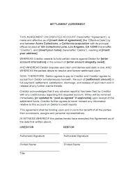 debt settlement agreement template request letter sles