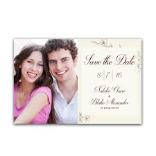 Wedding Announcement Photo Cards Lovely Floral 4x6 Wedding Announcement Cards