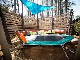 Trampoline Backyard Play Area