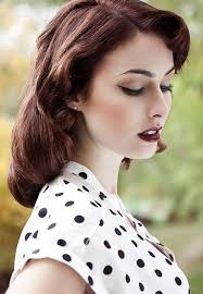 50 s hair and make up 1950 50s blouse blush cly clothes curls eyeliner