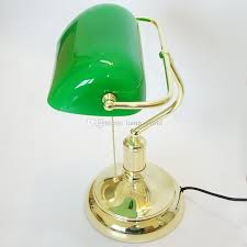 vintage bank table lamps retro brass bankers lamp green glass lampshade office study room table lamps desk lamp with 109 84 piece on lamp world s