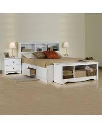 Prepac Prepac Monterey White Full Platform Storage Bed 3 Piece Bedroom Set from Wal-Mart USA, LLC | parenting.com Shop