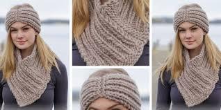 Free Knitted Headband Patterns Amazing Chunky Knitted Headband And Cowl [FREE Knitting Pattern]