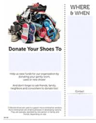 Shoe Drive Flyer Template Grow Your Support With A Successful Shoe Drive Fundraiser