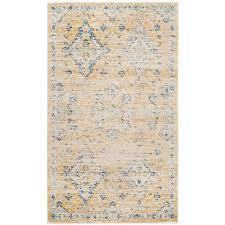 safavieh evoke gold ivory 2 ft x 4 ft area rug