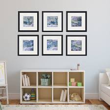 on framed blue wall art set with set of 6 abstract framed prints square 36 38 maggie minor designs