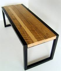 metal and wood furniture. Adorable Reclaimed Painted Wood Furniture Howlett Bench Made From And Welded Metal R
