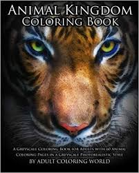 Amazoncom Animal Kingdom Coloring Book A Greyscale Coloring Book
