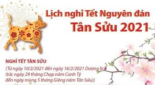 2021 Lunar New Year holiday to last for seven days » Breaking News, Latest  World News Updates - VietReader Viet Nam