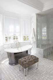 cast iron tub in bay window