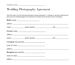 Template Simple Wedding Photography Contract Template Free