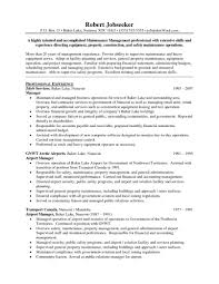 Retail Operation Manager Resume Template Avionenet