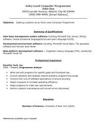Resume Examples For Sales Clerk Resume Examples Archives Resume Companion Entry Level Computer Programmer Resume The