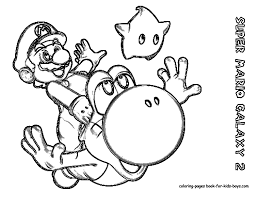 Small Picture Printable Coloring Pages Wii Super Mario Galaxy Coloring