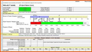 Project Daily Status Report Template Excel Kanaineco Info