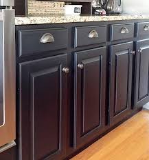 painted kitchen cabinets with general finishes lamp black milk paint and d lawless hardware