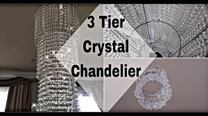 how to make a easy 3 tier gorgeous crystal chandelier home wedding decor