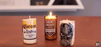 These beer bottle candles