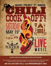 chili cook off poster. Exellent Chili Waves Chili Cook Off Flyer In Poster O