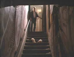 dark basement stairs. Interesting Basement Threatened By Demons And A Grad Student Possessed Satan Three  Characters In Teenage Exorcist 1991 Descend Staircase Into Dark Basement To Dark Basement Stairs O
