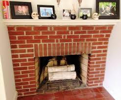 brick fireplace white stain ideas