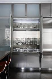 elegant stainless steel frosted glass cabinet doors and frosted glass kitchen cabinets design ideas