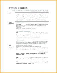 Resume Profile Example Resume Example Resume Profile Template Sample