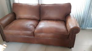 full leather sleeper couch