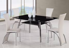 cheap modern furniture with white chair and black table and window and white floor