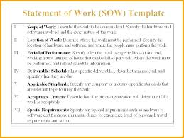 It Sow Template Simple Sow Template Doc Statement Of Work Software Development Pdf