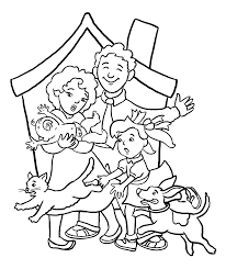 Small Picture Happy Family Coloring Pages Education Pinterest Happy family