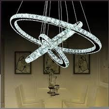 modern luxury atmosphere living room room lights 3 ring diamond ring crystal chandelier 65w led k9
